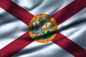 Waving flag, design 1 - Florida