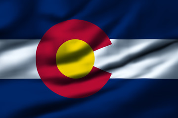 Waving flag, design 1 - Colorado