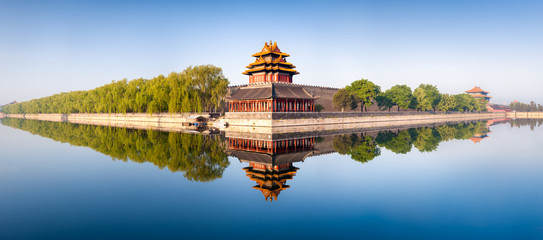 Aluminium Prints Asian Famous Place Verbotene Stadt in Beijing Panorama