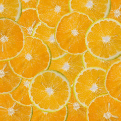 Sliced oranges pattern