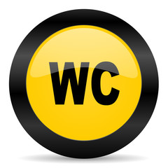 toilet black yellow web icon