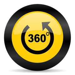 panorama black yellow web icon