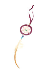 Beautiful dream catcher isolated on white with clipping path