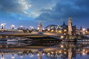Pont Alexandre III et Grand Palais Fototapete