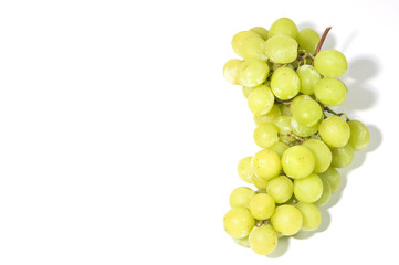 sweet green seedless grapes vertical