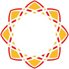 Abstrakte Stern Blume Tattoo Mandala