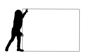 Vector silhouette of a child.