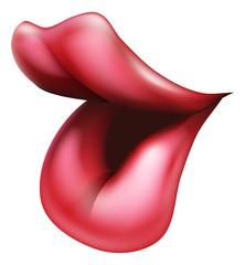 Big red lips