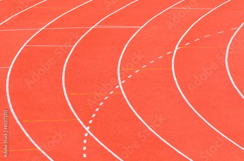 Fotobehang Athletics track