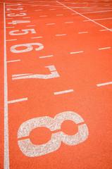 Wall Mural - Athletics track