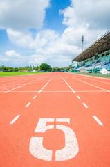 Fotobehang - Athletics track