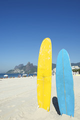 Stand Up Paddle Surfboards Ipanema Beach Rio de Janeiro Brazil