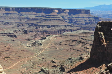 Canyon lands in Utah in April 2014