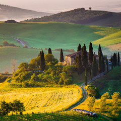 Wall Mural - Toscana, mattino in Val d' Orcia