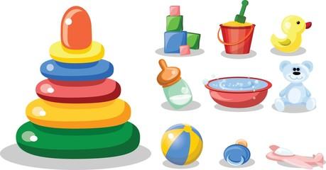 Векторные иллюстрации детских аксессуаров