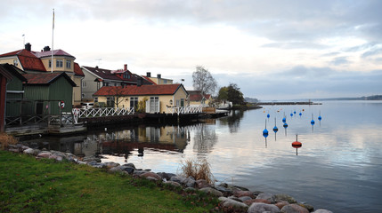 Lake and Västervik, Scandinavia, Sweden, Europe