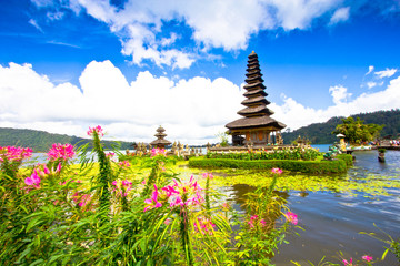 Pura Ulun Danu temple on a lake Beratan. Bali ,Indonesia