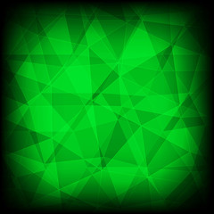 Green and black abstract mosaic background