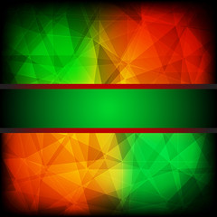 Abstract colorful background with frame