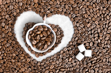 Coffee Heart and Sugar