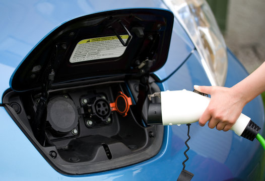Ready to plug in electric car