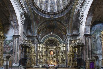 St. Maria Church in Los Arcos, Navarre. Spain.