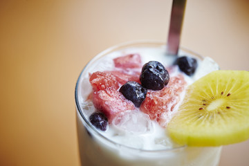 tropical fruit ice dessert