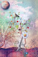 Printed roller blinds Imagination Eden garden series