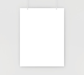 paper card on a white wall