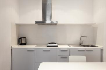 Interior, white kitchen