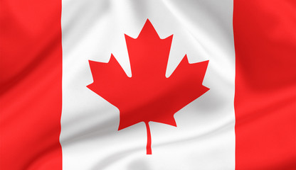 The Maple Leaf Canada state flag
