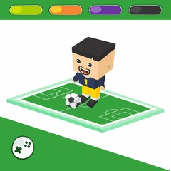 soccer goalkeeper cartoon character