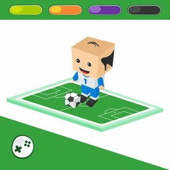 soccer goalkeeper cartoon character