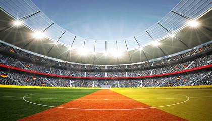 Wall Mural - Stadion Deutschland Mittellinie