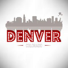 Denver USA skyline silhouette vector design.