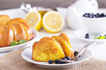 Lemon marble bundt cake