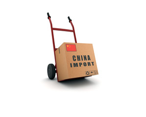 china import - scatolone su carrello