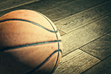 Basketball on the floor