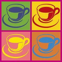 Tasses multicolores