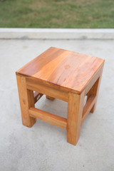 Small teak wood chair