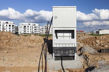 Stromanschluss im Bau