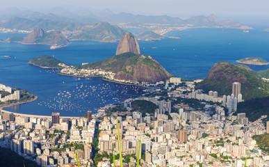 The mountain Sugar Loaf and Botafogo in Rio de Janeiro
