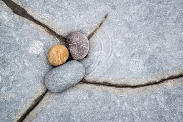 Macro image of pebbles detail on beach rocks