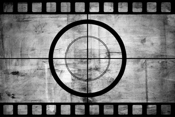 Vintage movie film strip with countdown border