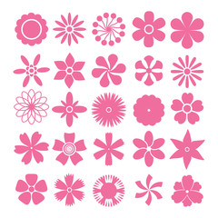 Vector set of flowers