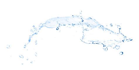 Water splashing isolated on white