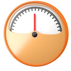Cartoon-styled gauge