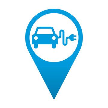 Icono localizacion simbolo coche electrico