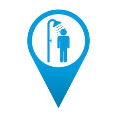 Icono localizacion simbolo ducha masculina