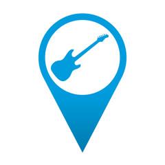 Icono localizacion simbolo guitarra electrica